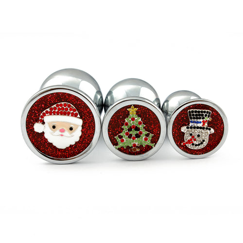 Personalised small, medium and large Christmas butt plug set. Anal sex plug for subs/ littles/ ddlg. Personalised/ custom butt plugs