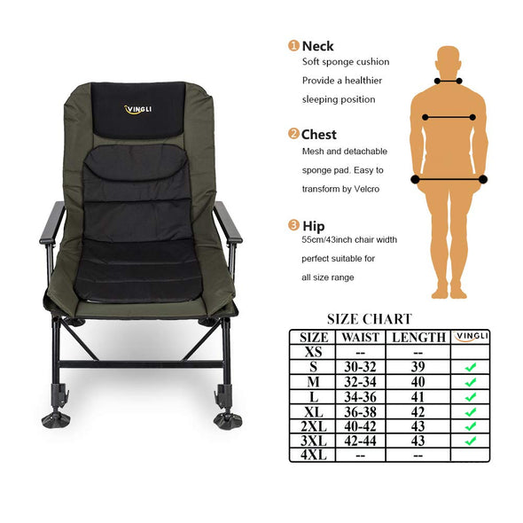 VINGLI Fishing Chair Foldable