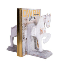Bookend Resin Horse Bookends  - Brie