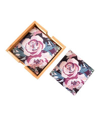 Coasters Artist Lab - InkHeart - Frilly Flowers - Coasters