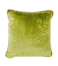 Cushion Olive Green Velvet - Indoor Cushion Cover and Insert - 45x45