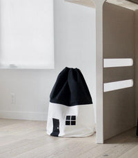 Drawstring Bag Cotton Canvas Drawstring Bag - House With White Wall