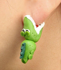 Earrings Bitey Crocodile Stud Earrings