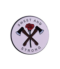 Enamel Pin Sweet And Strong Enamel Pin