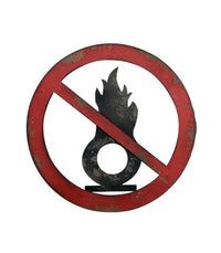 Sign Metal Retro Industrial Flammable Gas Sign 46cm