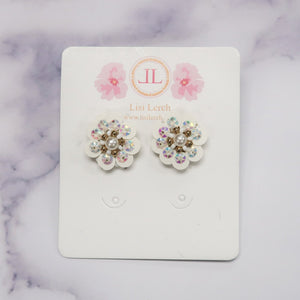 Cece White Floral Earrings by Lisi Lerch