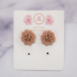 Cece Blush Floral Earrings by Lisi Lerch