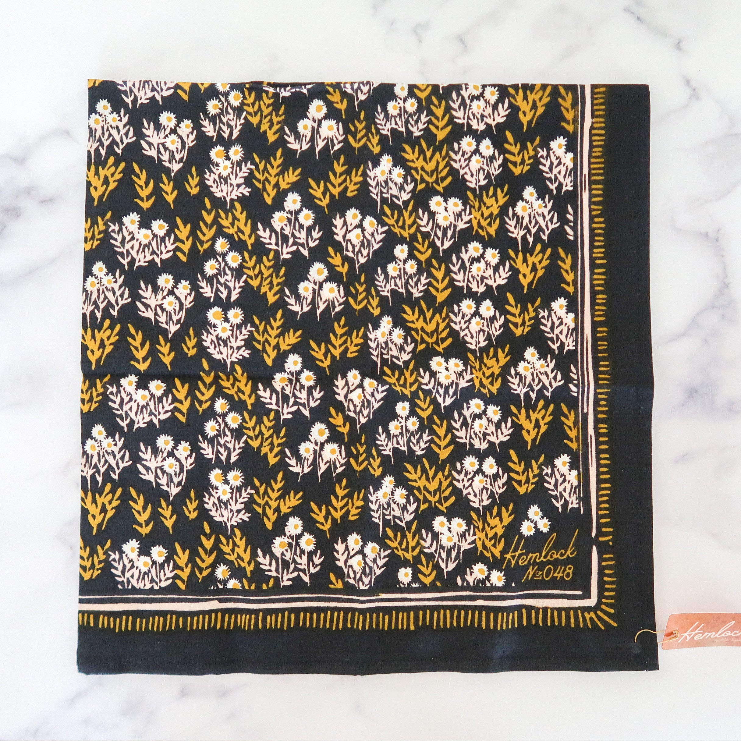 Dark Floral Cotton Bandana