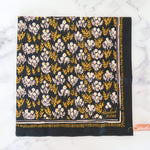 Load image into Gallery viewer, Dark Floral Cotton Bandana
