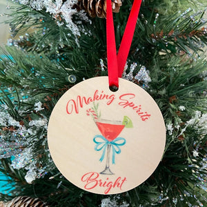 Making Spirits Bright Wooden Ornament