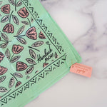 Load image into Gallery viewer, Mint Floral Cotton Bandana