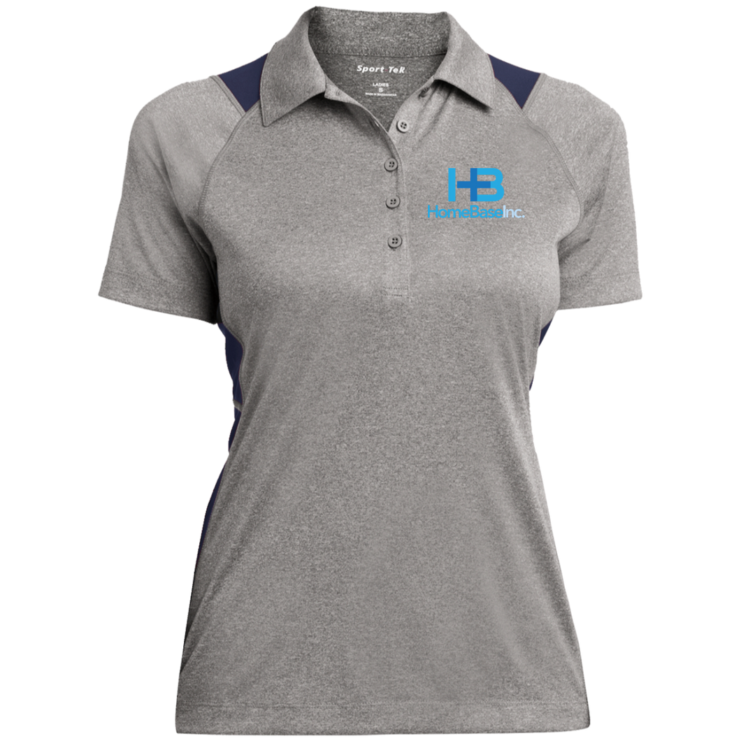 LST665 Ladies' Heather Moisture Wicking Polo