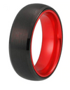 Tungsten  Black Red wedding Ring