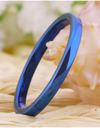Tungsten 2mm Blue Wedding Rings for Women
