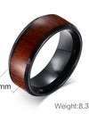 Tungsten Carbide Wood  Rings  Design