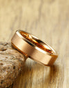 Rose Gold Mens Tungsten Wedding Band