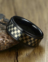 Chessboard Tungsten Ring for Men
