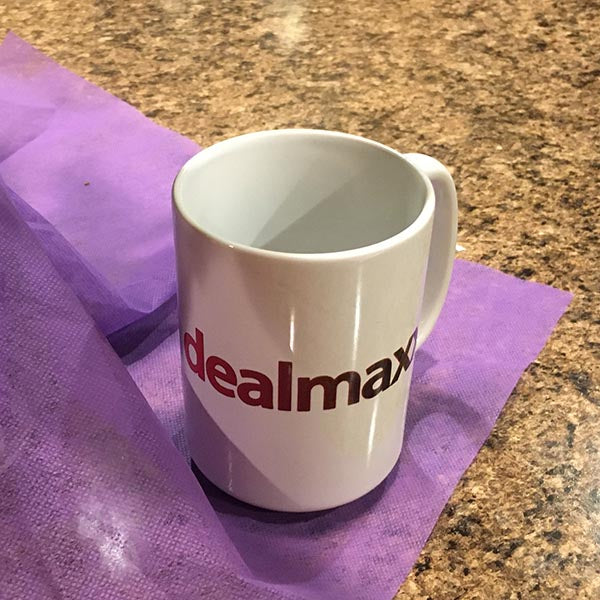 I Love Dealmaxx White Ceramic Mug