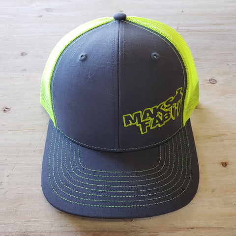 Maks Fab Snapback Hat - Grey/Neon Yellow