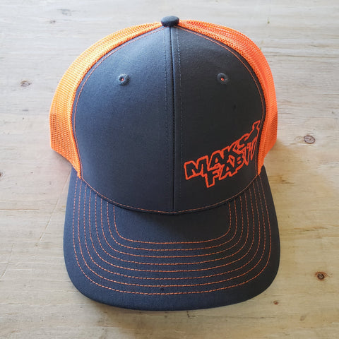 Maks Fab Snapback Hat - Grey/Neon Orange