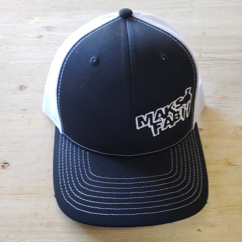 Maks Fab Snapback Hat - Black/White