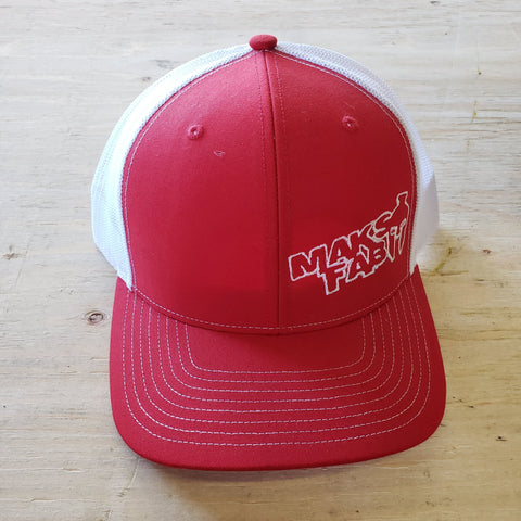 Maks Fab Snapback Hat - Red/White