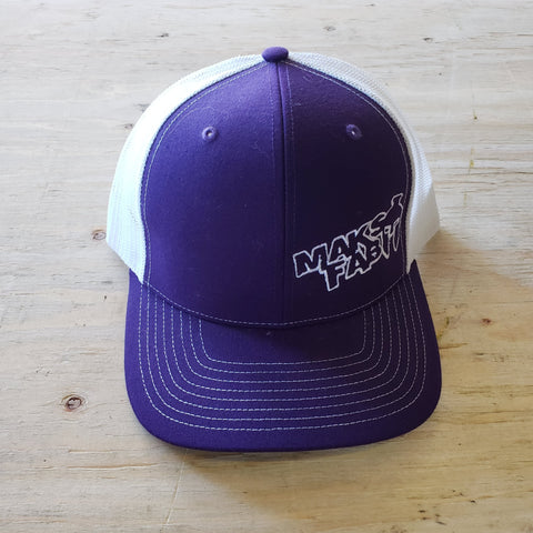 Maks Fab Snapback Hat - Purple/White