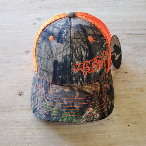 Maks Fab Velcro Hat - Camo/Neon Orange