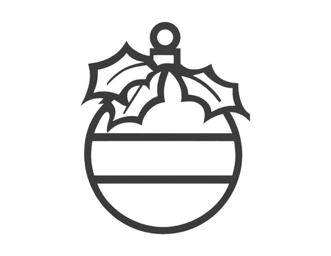 Christmas Ball Monogram