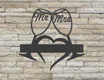 Mr and Mrs Wine Glasses Monogram