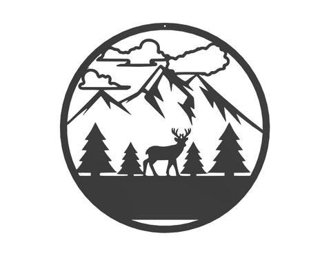 Outdoor Deer Monogram