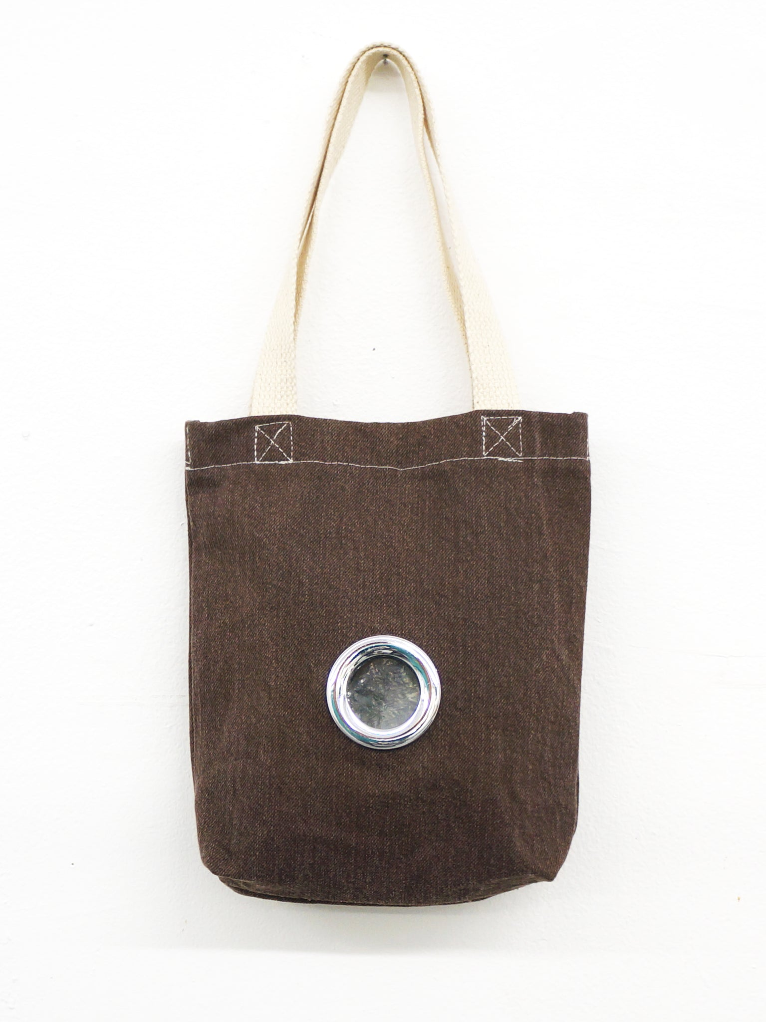PEEP HOLE TOTE BROWN