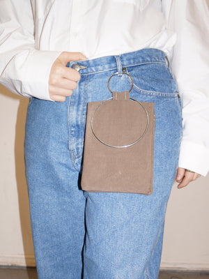 RING POUCH BROWN
