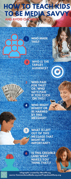 How To Teach Kids To Be Media Savvy & Avoid Clickbait!