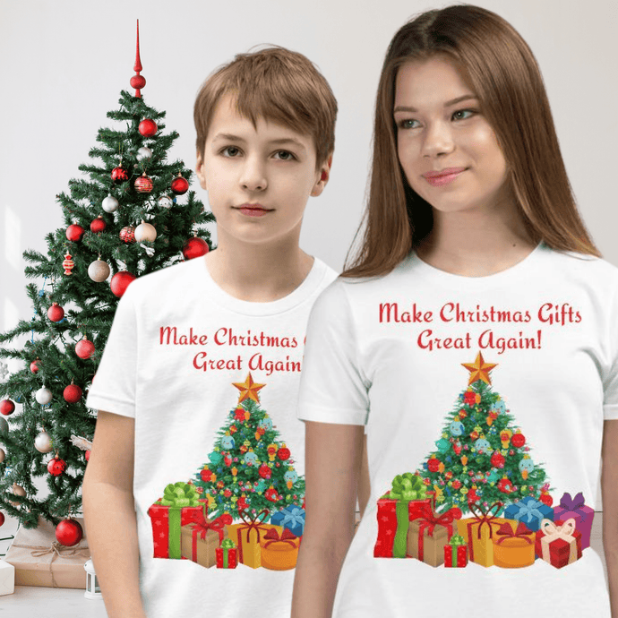 Make Christmas Gifts Great Again, Kids Unisex T-Shirt