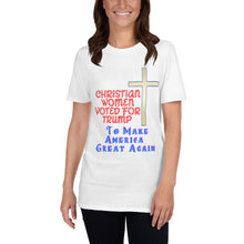 Load image into Gallery viewer, Christian, Trump, Patriot, America, GOP, Republican, Womens T-Shirt, Tee