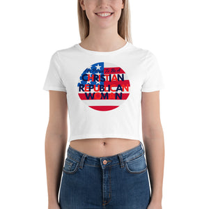Republican, Christian Woman, Conservative Shirt, Women's Crop Tee - More94, Trump, Republican, Conservative, GOP, Patriot Apparel