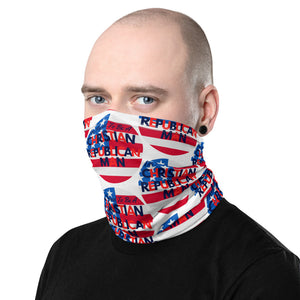 Christian Man, Republican Men, American Neck Gaiter - More94, Trump, Republican, Conservative, GOP, Patriotic Clothing