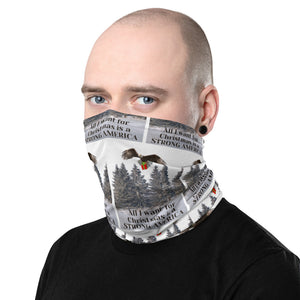 All I Want For Christmas Is A Strong America, Face And Neck Gaiter