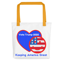 Load image into Gallery viewer, Patriots, American, USA, GOP Tote bag - More94, Trump, Republican, Conservative, GOP, Patriotic Clothing