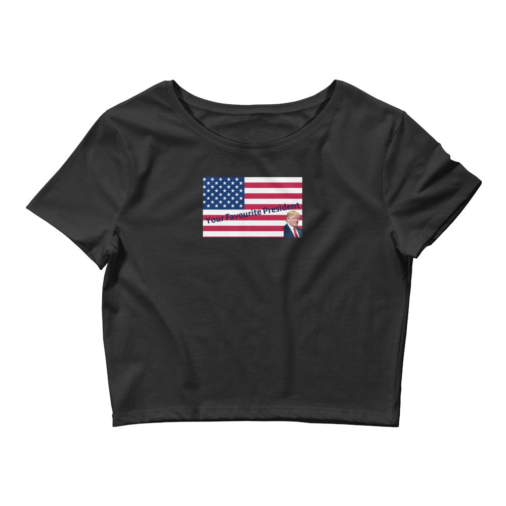 Patriots, Conservative, Republican Shirt, Women's Crop Tee - More94, Trump, Republican, Conservative, GOP, Patriotic Clothing