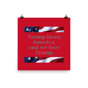 Trump, Patriotic, American, USA Poster - More94, Trump, Republican, Conservative, GOP, Patriotic Clothing