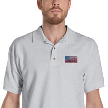Load image into Gallery viewer, American, Patriot, Republican, USA, Mens Polo, Embroidered Polo Shirt - More94, Trump, Republican, Conservative, GOP, Patriotic Clothing