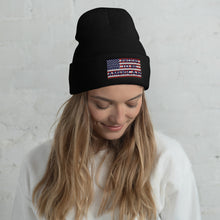 Load image into Gallery viewer, Patriot, America, USA, Beanie, Hat, Cuffed Beanie - More94, Trump, Republican, Conservative, GOP, Patriotic Clothing