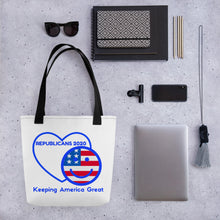 Load image into Gallery viewer, Patriots, Conservative, Republican Tote bag - More94, Trump, Republican, Conservative, GOP, Patriotic Clothing