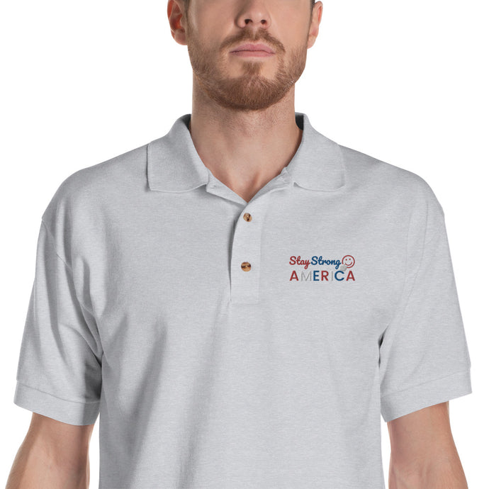 America, USA, Patriots, Mens Polo Shirt, Mens Embroidered Polo - More94, Trump, Republican, Conservative, GOP, Patriotic Clothing