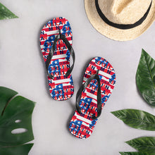 Load image into Gallery viewer, Republican, Christian Man, USA, GOP Flip-Flops, Slippers - More94, Trump, Republican, Conservative, GOP, Patriotic Clothing