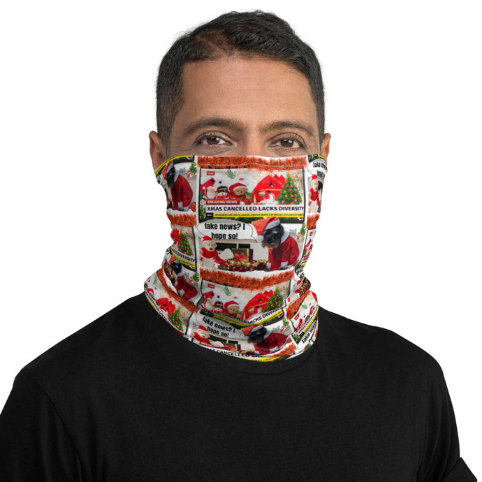 Christmas Cancelled Fake News, Face And Neck Gaiter