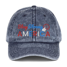 Load image into Gallery viewer, America, USA, Patriotic, Hat, Cap, Vintage Cotton Twill Cap - More94, Trump, Republican, Conservative, GOP, Patriotic Clothing