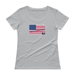 Trump, Patriots, Conservative Womens Shirt, Ladies' Scoopneck T-Shirt - More94, Trump, Republican, Conservative, GOP, Patriotic Clothing